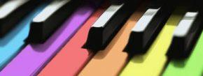 Multicolor piano