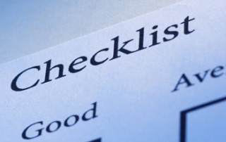 Bleu Checklist