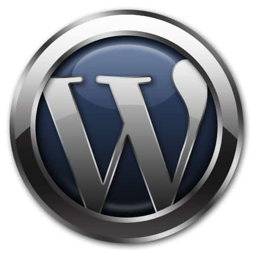 Word press logo 3D