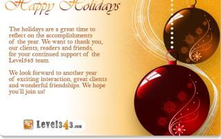 Level343 Happy Holidays