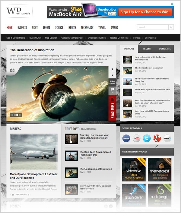 Premium Magazine WordPress