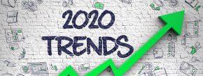 2020 Trends Drawn on Brick Wall.