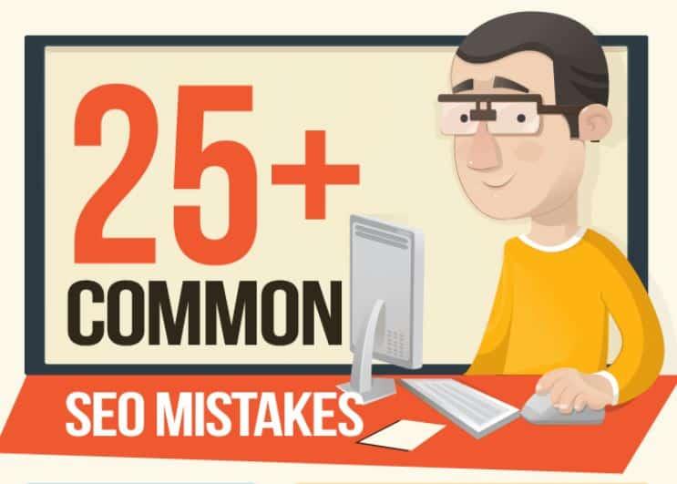 25+ Common SEO Mistakes - Infographic