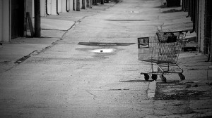 old shopping cart