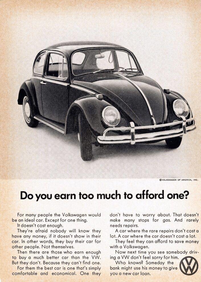 1968 Volkswagen Beetle Ad (Afford One)