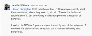 SEO is behavior too...