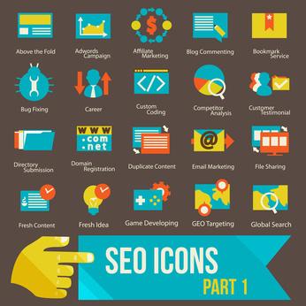 seo icons set part 1 Flat design modern vector illustration