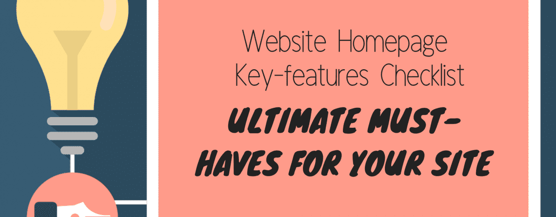 Key features of a website homepage