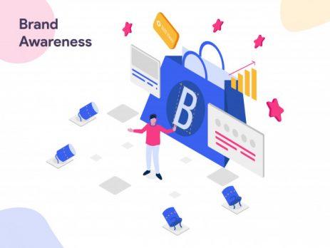Brand Awareness, Isometric Illustration