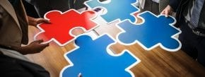 puzzle pieces held by co-branding partners