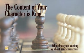 Content Development: What does your content say about your character?