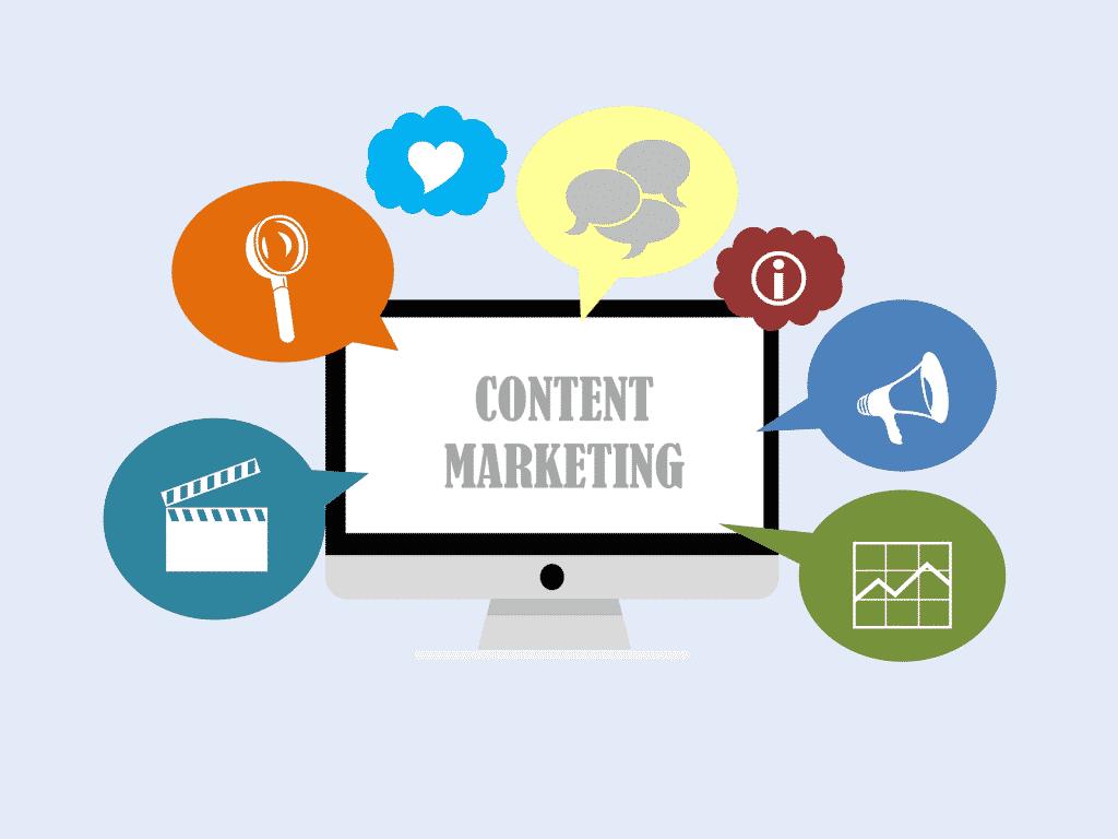 content marketing written on screen