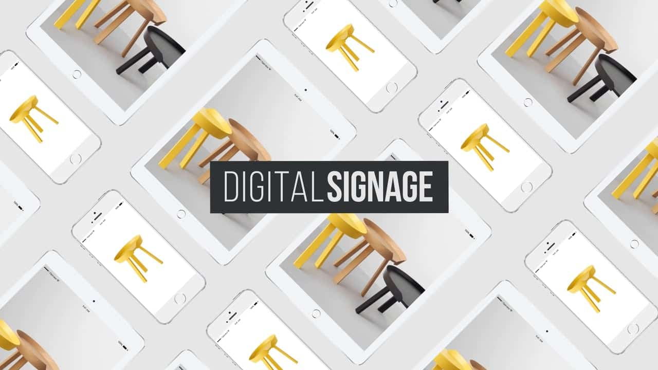 Merging digital marketing methods: digital sign system and online marketing