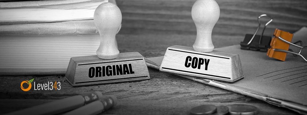 duplicate content concept