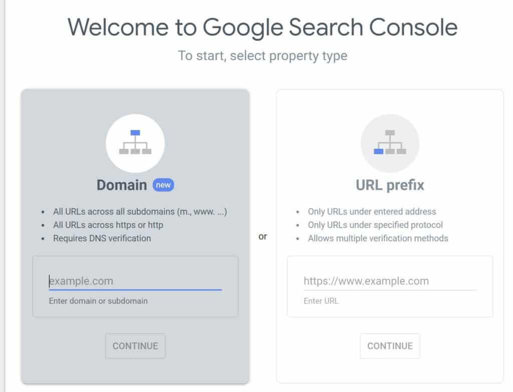 Google Search Console setup
