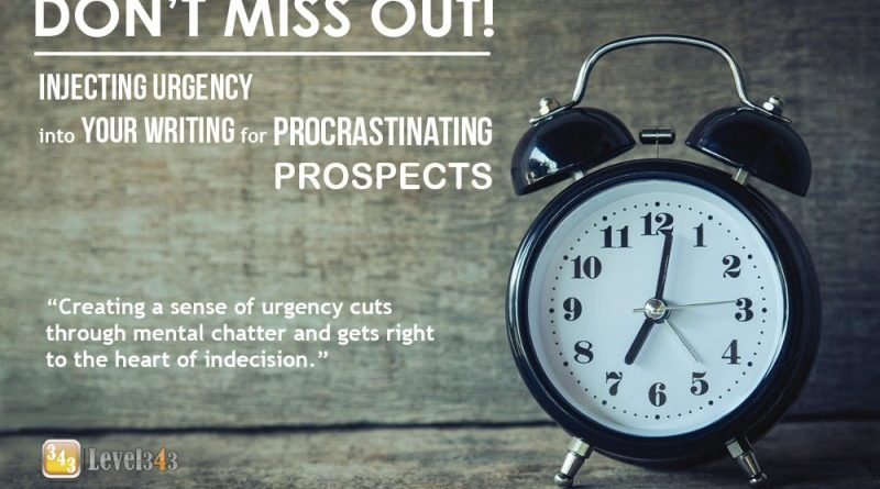 Injecting Urgency into your Writing