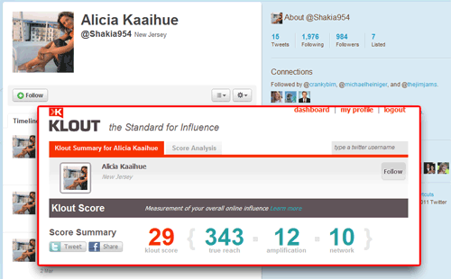 Klout User image