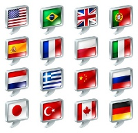 multiple language flags