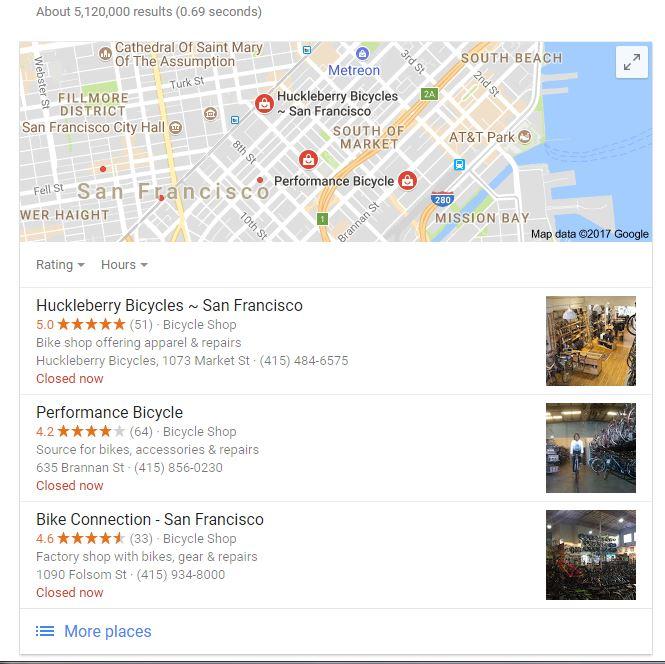 Local SEO Example, San Francisco