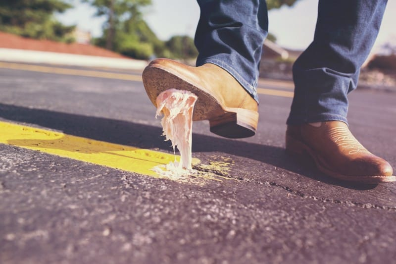 sticky shoes, symbolizing methods that can stop SEO from working