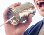 Marketing man and communication