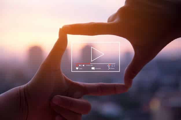 Online video marketing concept