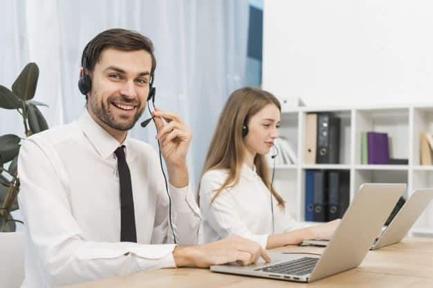 people working call center customer service