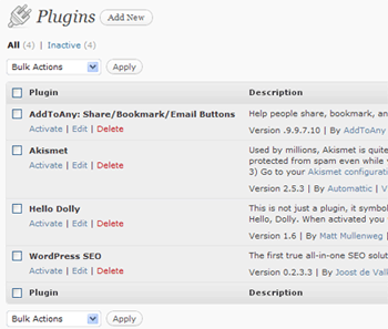 Activating Plugins