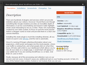 Wordpress Plugin Description, On Site