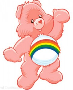The fuzzy, feel good business world... with rainbows (and care bears)