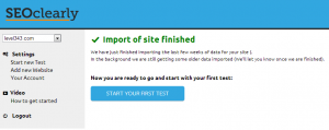 Import Site finished in SEO clearly