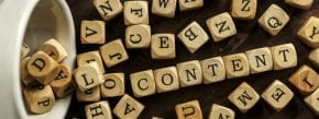 Content Marketing Scrabble