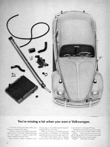 "Volkaswagen Ad ""You're missing a lot when you own a Volkswagen"""