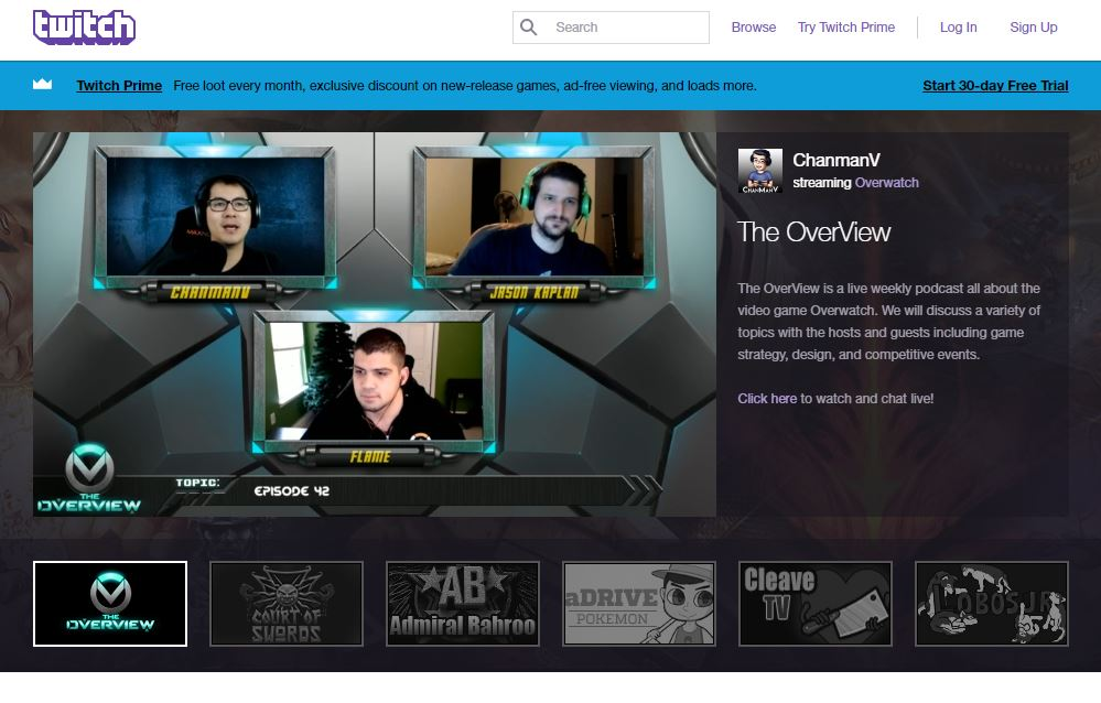 Twitch: Video Game Live Stream Platform