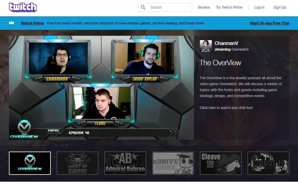 Twitch: Video Game Live Stream Platform