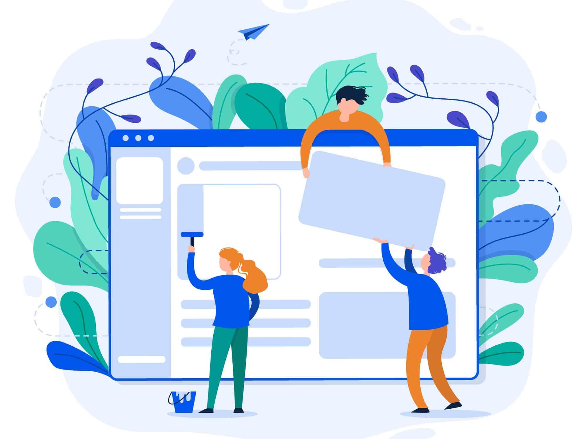 website theme change concept
