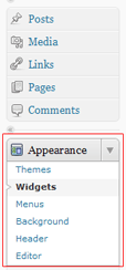 Wordpress Widget Navigation